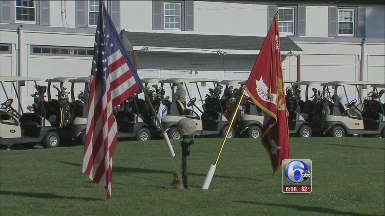 VIDEO: Fallen Marines remembered in Cobbs Creek golf outing