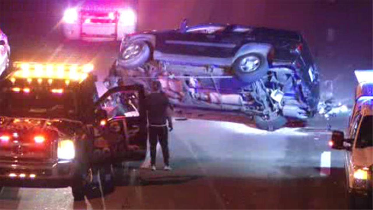 6 people injured in chain-reaction crash in East Falls