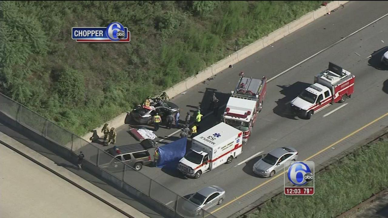 VIDEO: 1 dead in crash on I-476