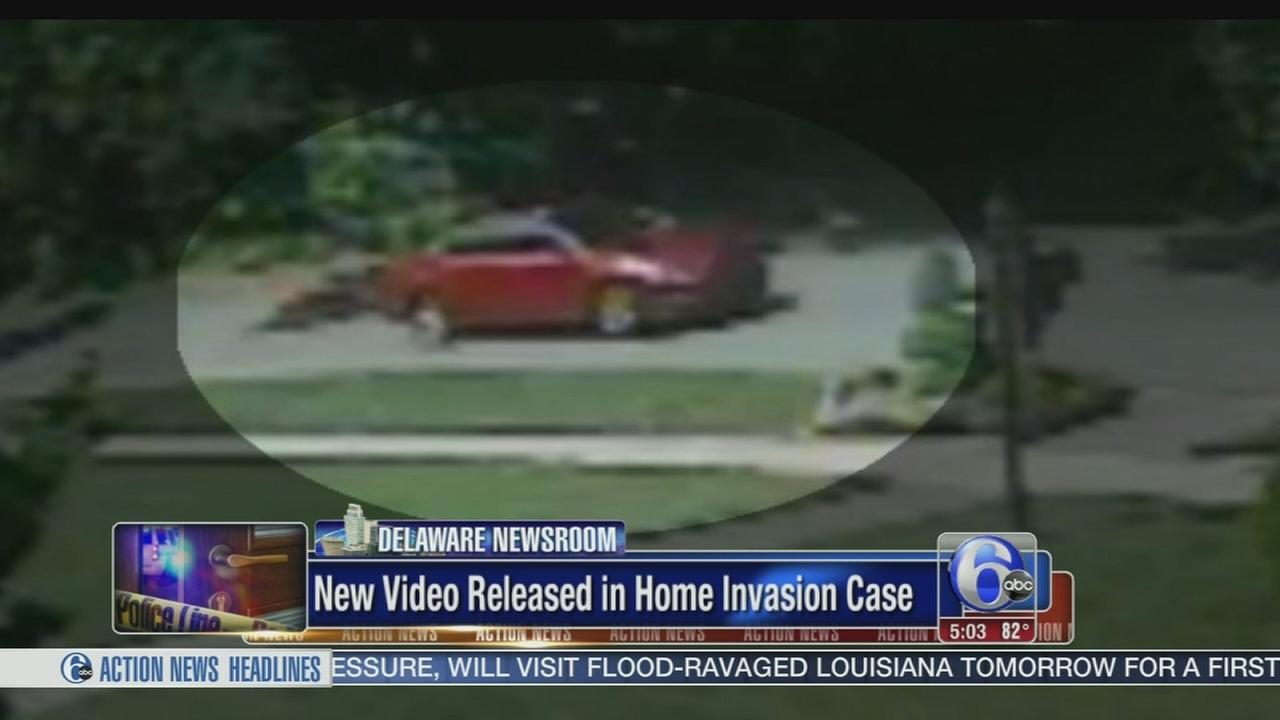 VIDEO: Car of home invasion suspect seen on surveillance video