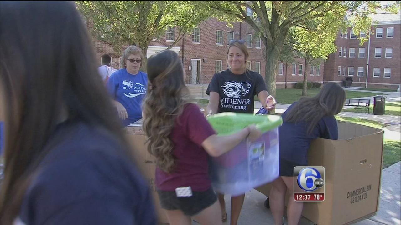 VIDEO: Freshmen move in at Widener