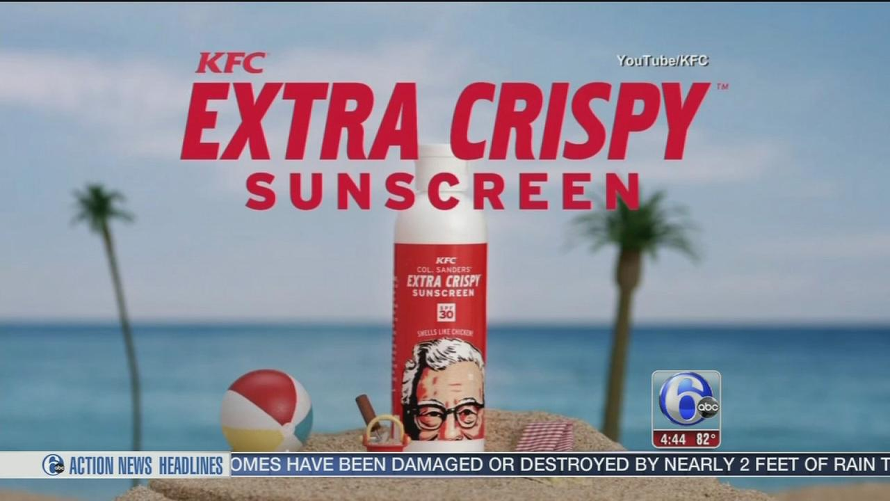 VIDEO: KFC gives out fried chicken scented sunscreen