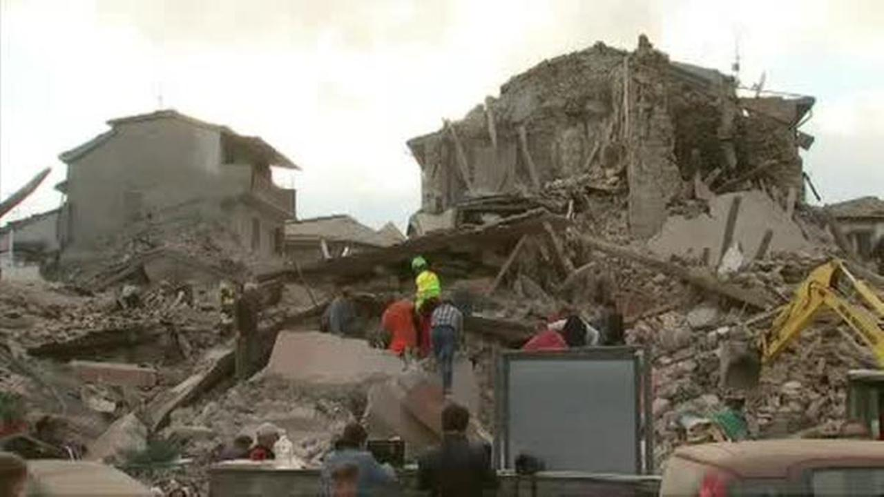 (WPVI) Rescuers search rubble after earthquake hits Central Italy in the middle of the night.