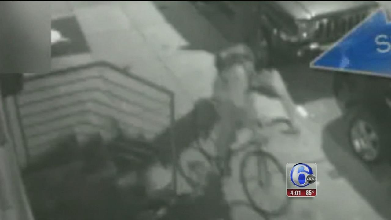 VIDEO: Search for assault suspect on bike