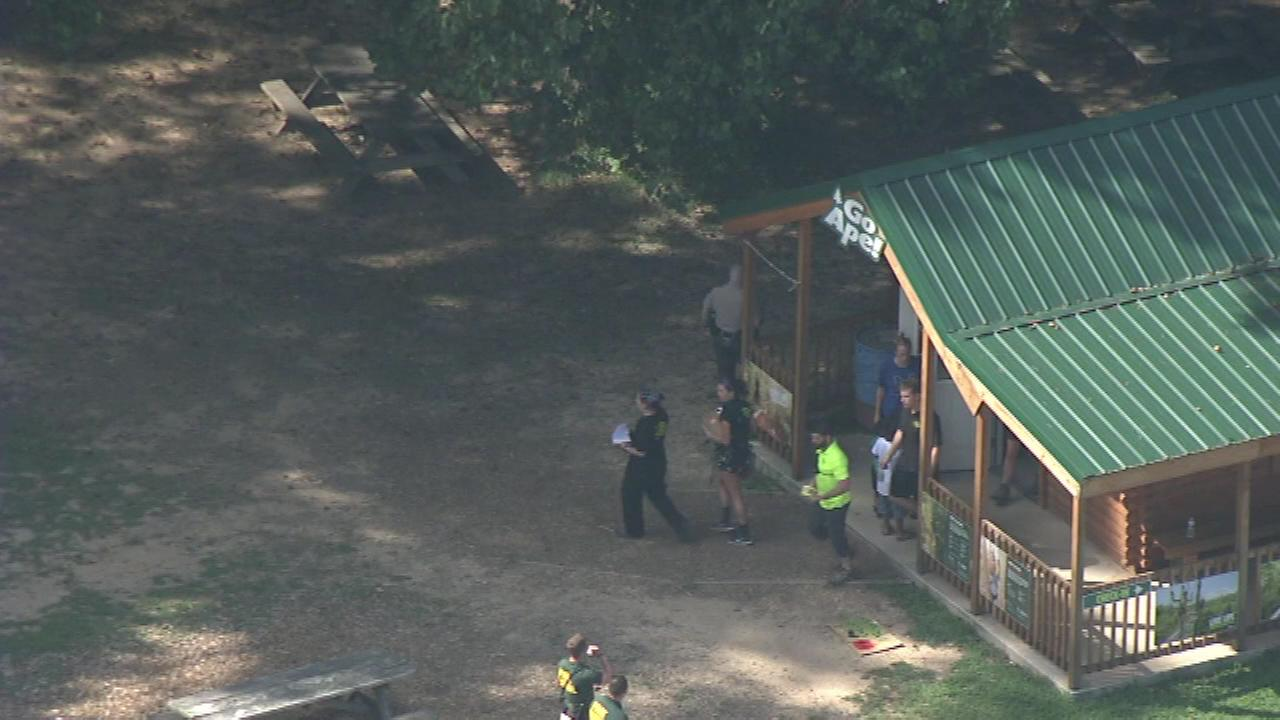 A 59-year-old woman is dead after falling approximately 40 feet from a zip line at a Delaware state park, police say.