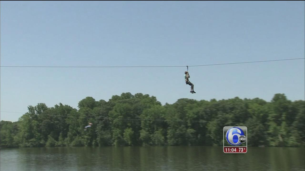 VIDEO: Zip line fall