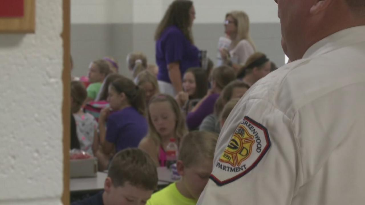 VIDEO: Firefighters, police sub as teachers
