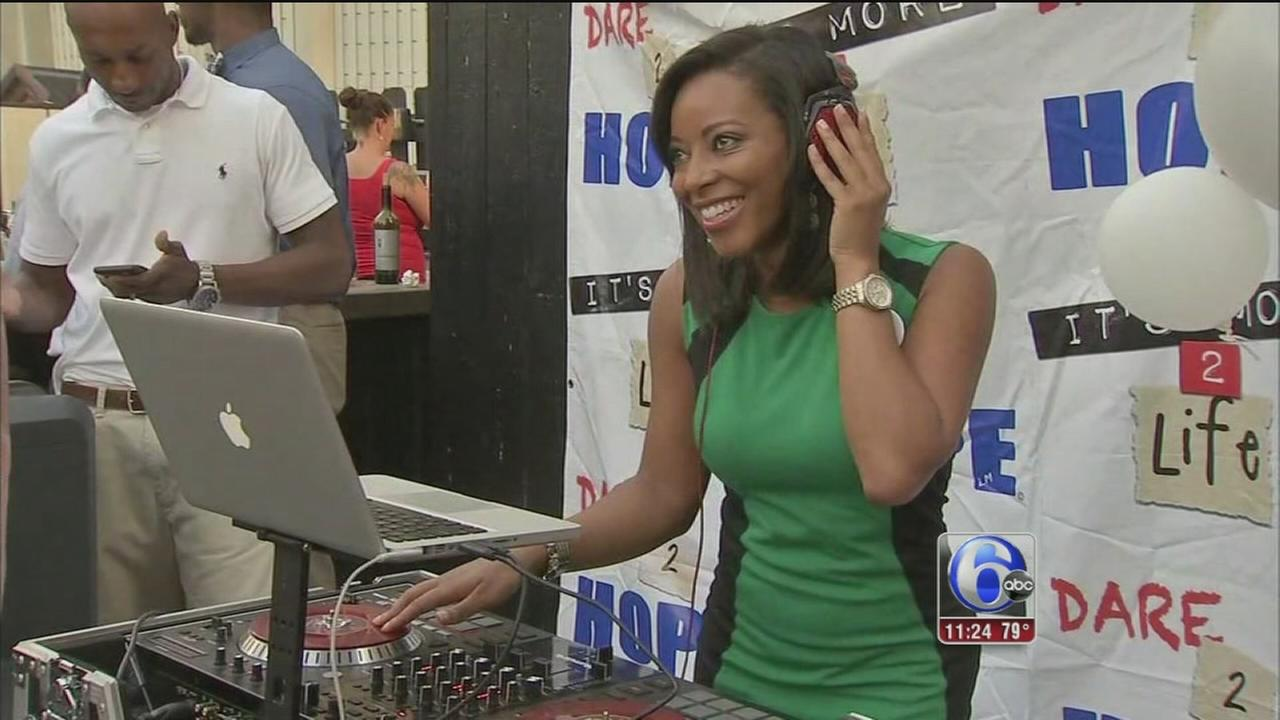 VIDEO: Sharrie Williams spins records for a good cause