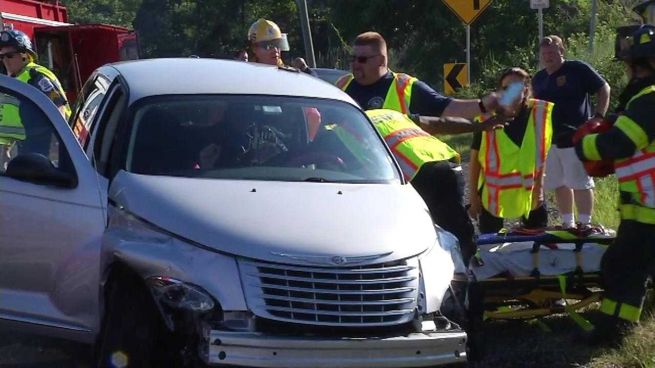 Pictured: A crash on River Road in New Castle, Del. on Friday, August 26.