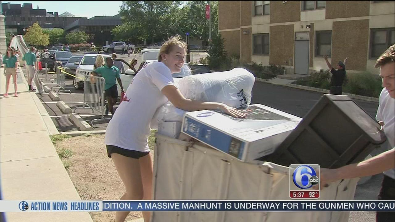 VIDEO: Move-in days at St. Joes, WCU