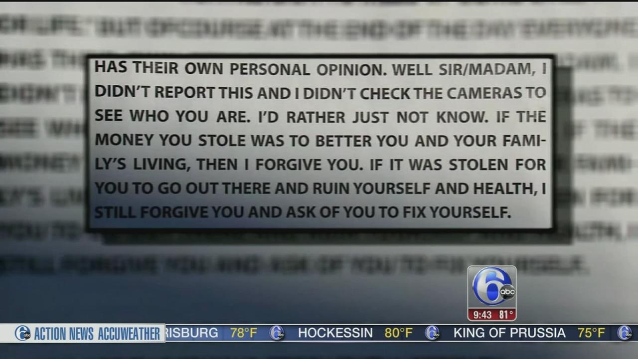 VIDEO: Business owner writes letter of forgiveness to burglar