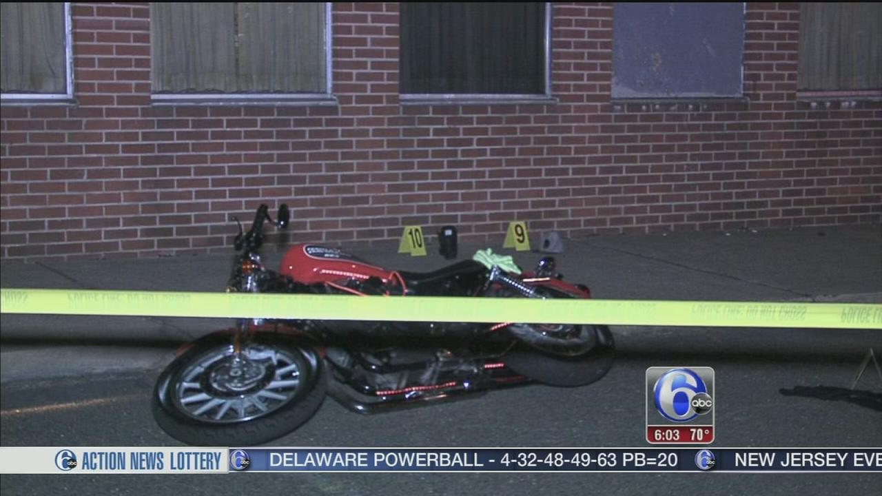 VIDEO: Motorcyclist shot in head in Northeast Philadelphia