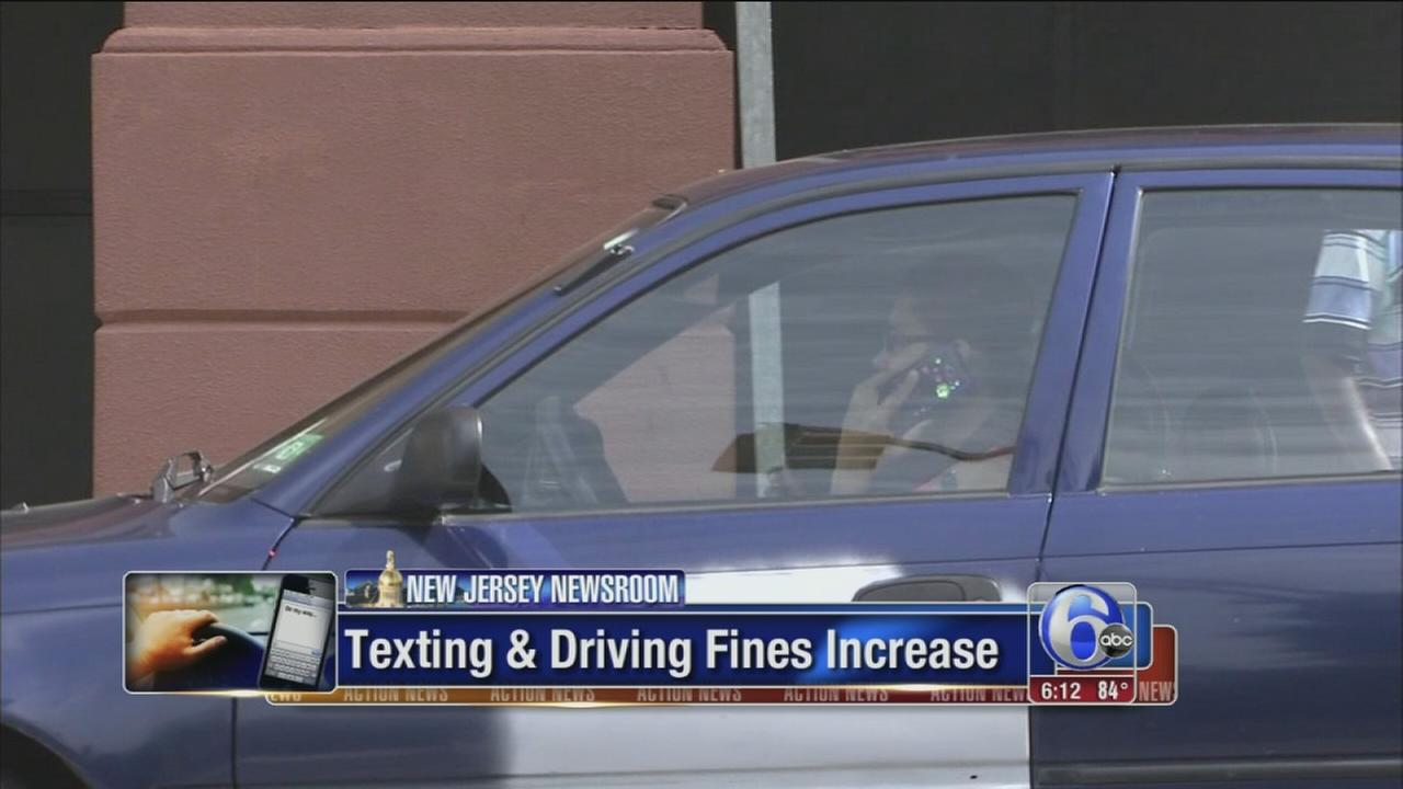 VIDEO: Texting fines increase in NJ