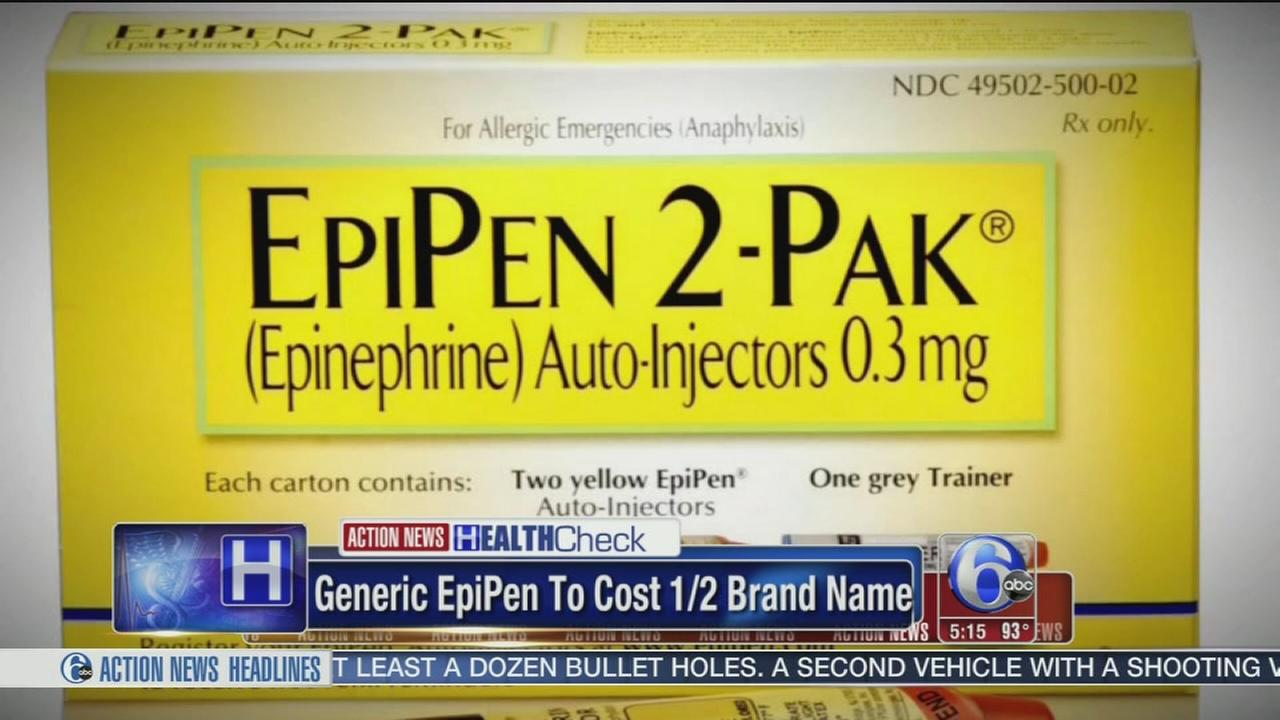 VIDEO: Generic EpiPen to cost half price