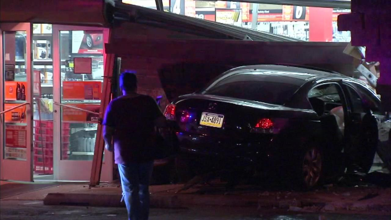 Two suspects led police on a chase through Delaware County before crashing in Southwest Philadelphia.