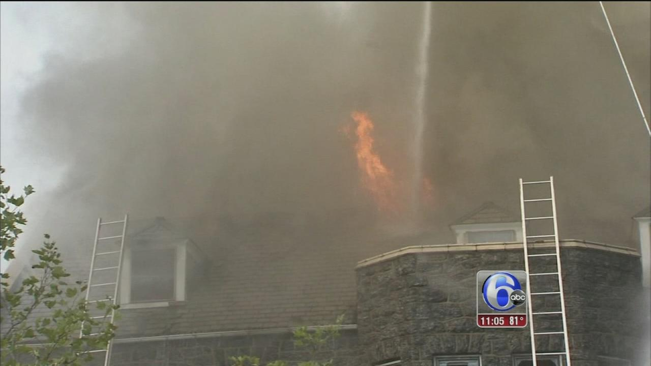 VIDEO: Fire destroys historic church in Overbrook
