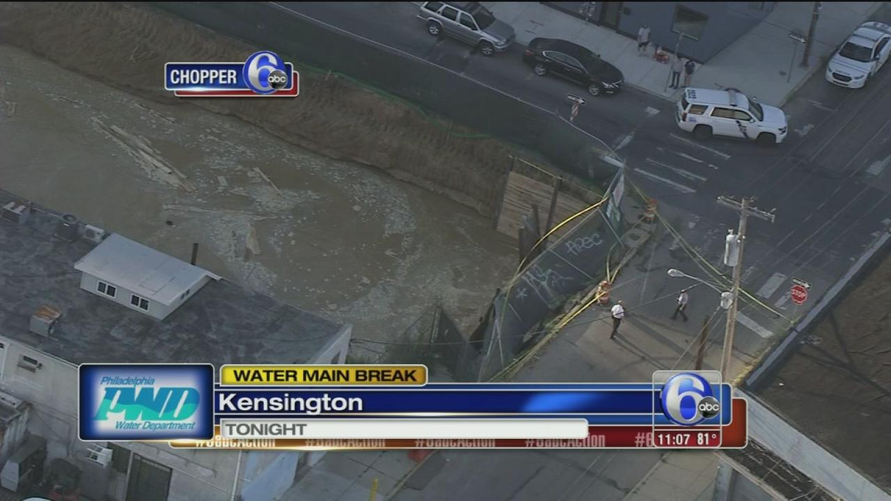 VIDEO: Water main break in Kensington