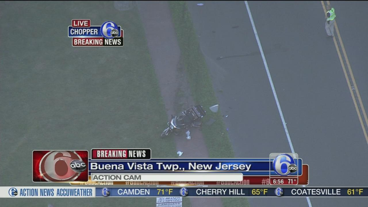 VIDEO: Motorcycle crash in NJ
