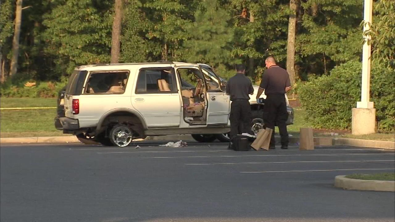 Pictured: The scene after a shooting in Egg Harbor Twp. on Monday, August 29.