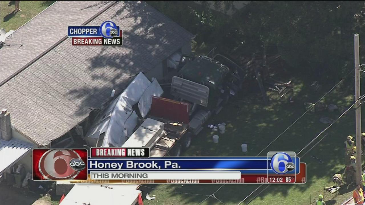 VIDEO: Tractor-trailer crash in Chesco