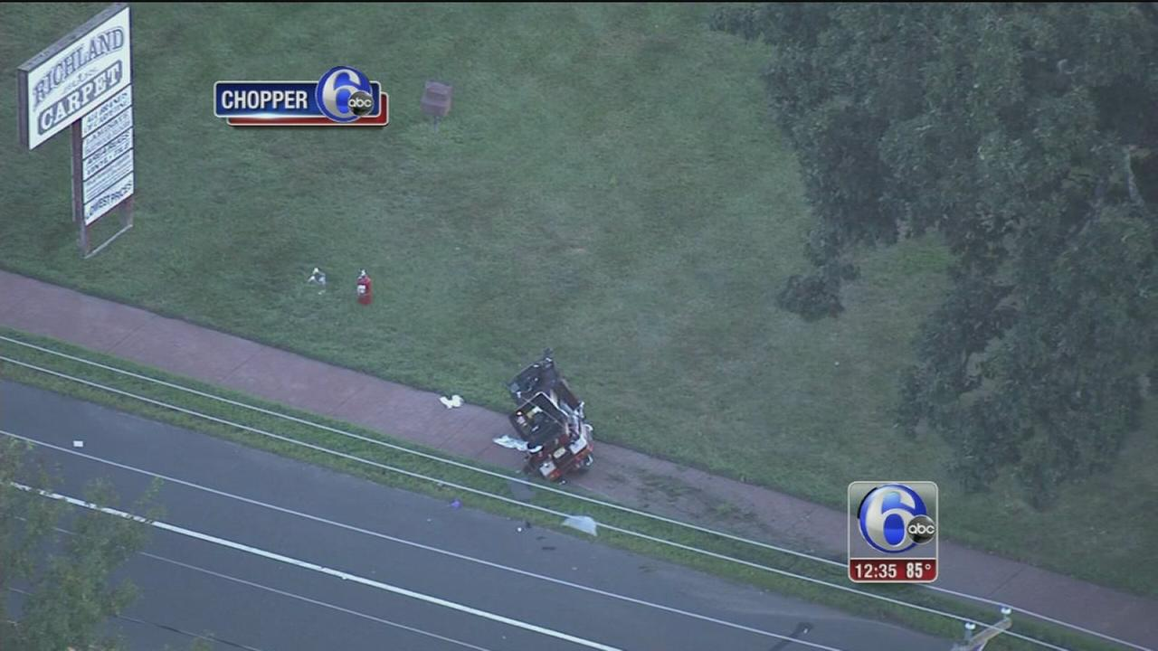 VIDEO: 2 hurt in motorcycle crash