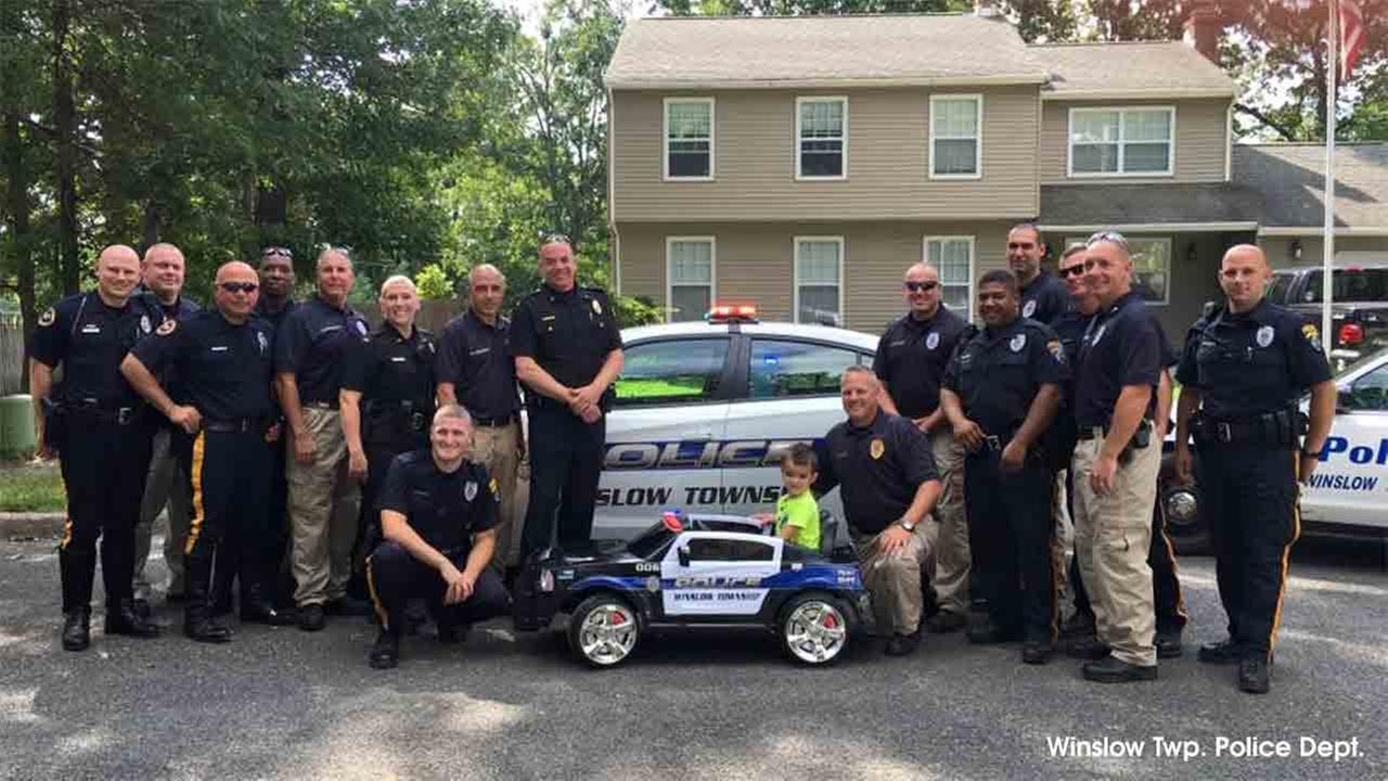 Winslow Twp. Police gift 5-year-old boy with custom car after he buys them lunch with his allowance