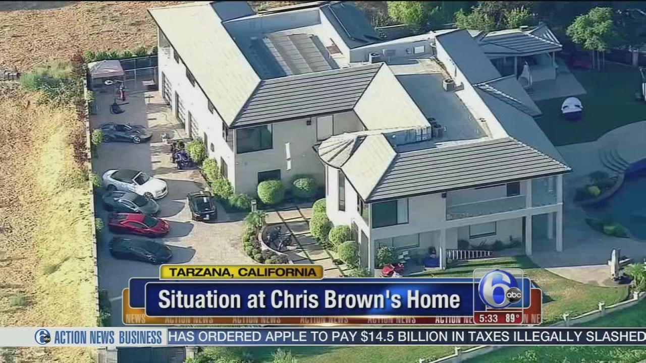 VIDEO: Situation at Chris Browns home