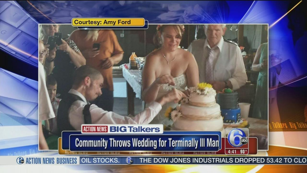 VIDEO: Community throws wedding for terminally ill Bucks County man