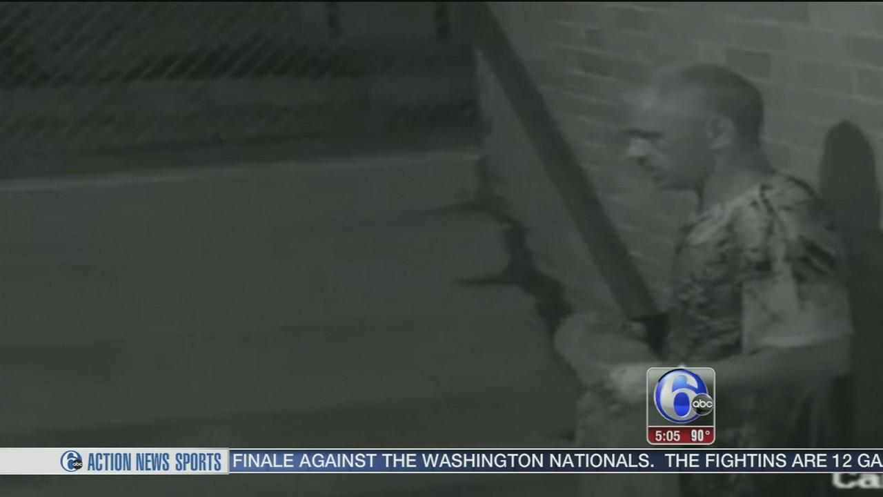 VIDEO: Search for church burglar