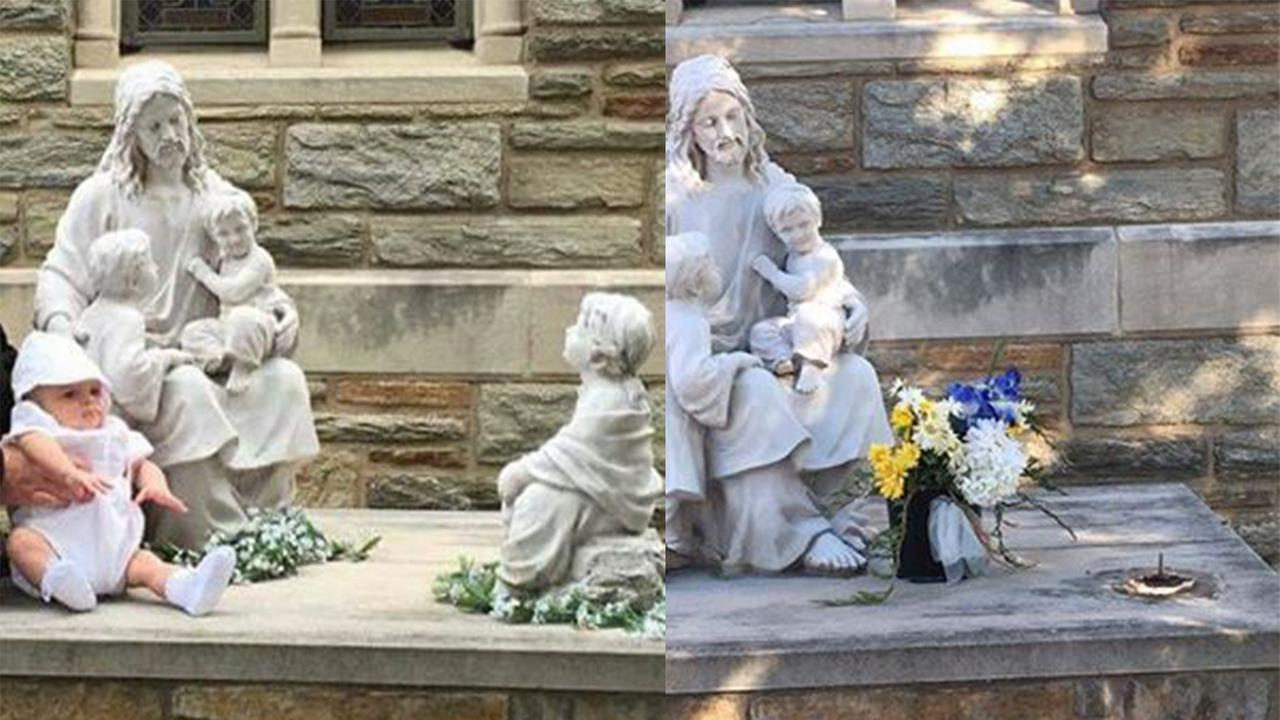 Police are seeking the publics help in locating a statue stolen from a church in Philadelphias Port Richmond section.