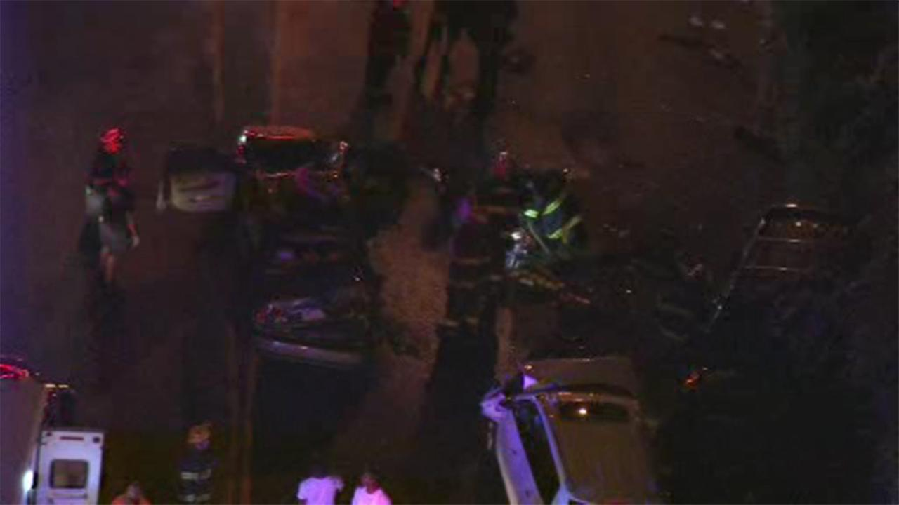 At least four people are injured after two vehicles collided on Lincoln Drive.
