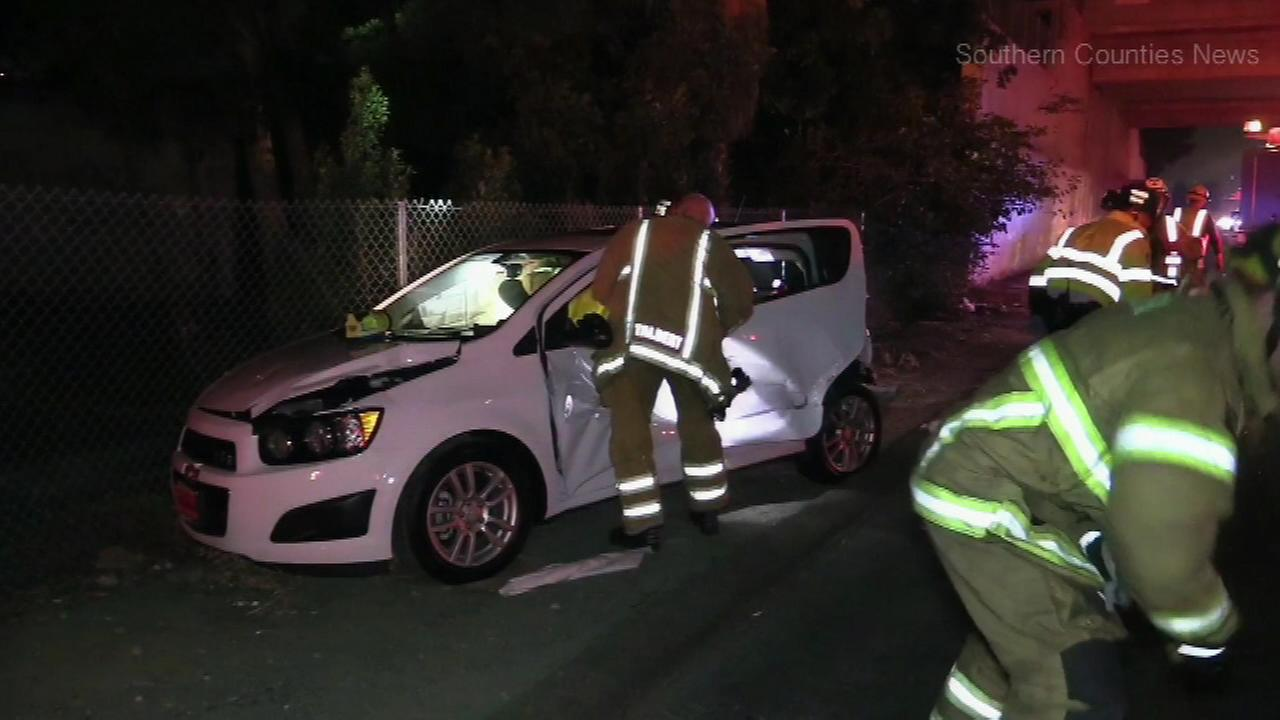 August 31, 2016: The collision happened at 9 p.m. near the McFadden exit of the 55 Freeway in Tustin, Calif.