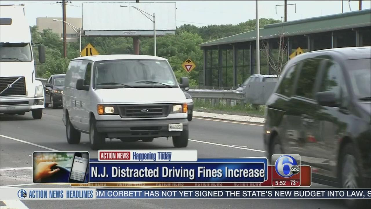 VIDEO: NJ raises fines for using phones while driving