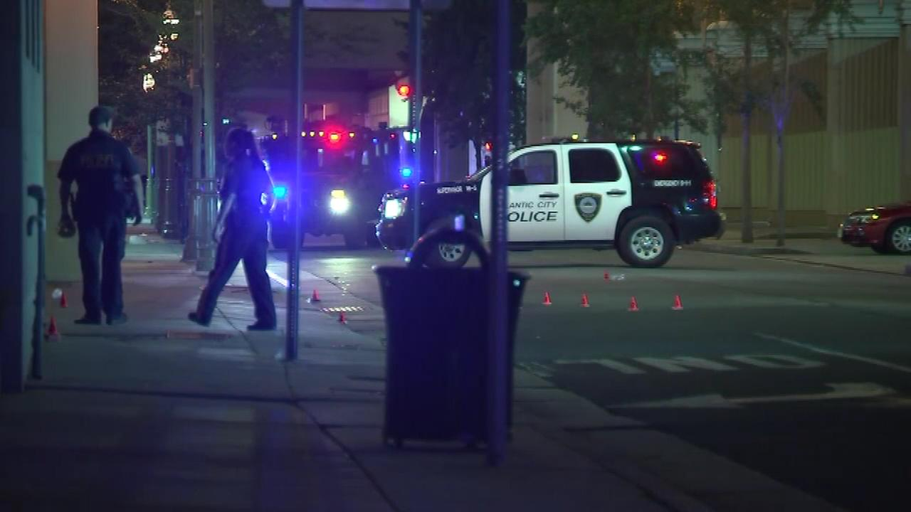 PICTURES: Scene of Atlantic City police officer shooting outside casino