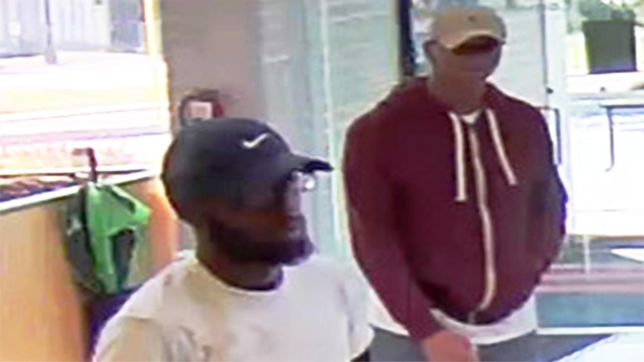 The Plymouth Township Police Department and the FBI are seeking the publics assistance to identify and locate two men wanted in an armed robbery of a TD Bank in Montgomery County.