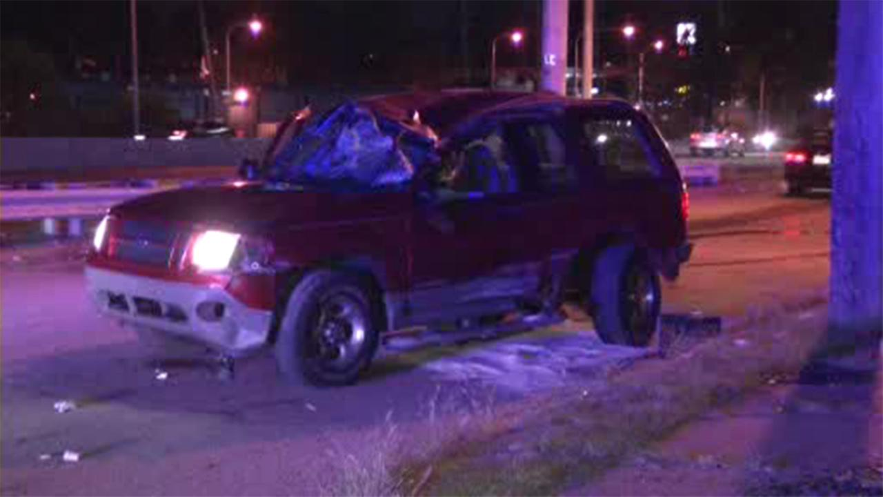 A child was injured Sunday in a crash along the Roosevelt Boulevard in Philadelphias East Falls section.