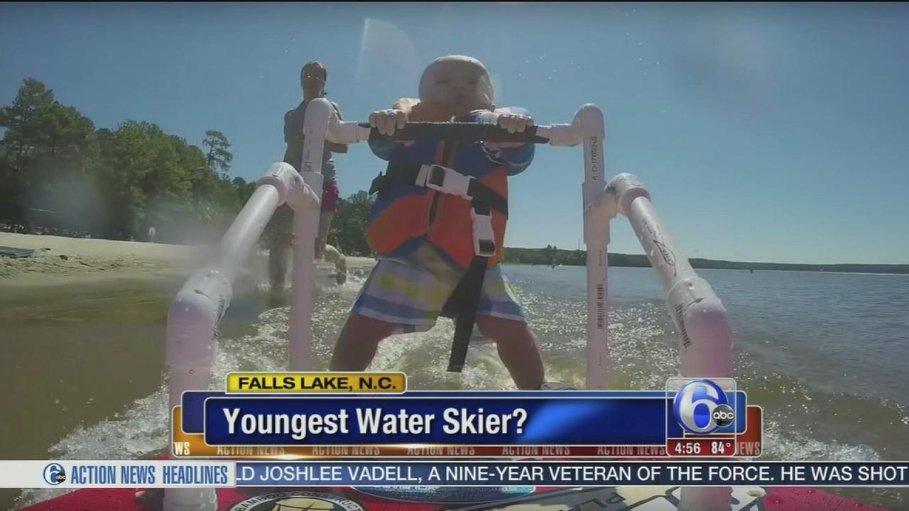 VIDEO: Youngest water skier