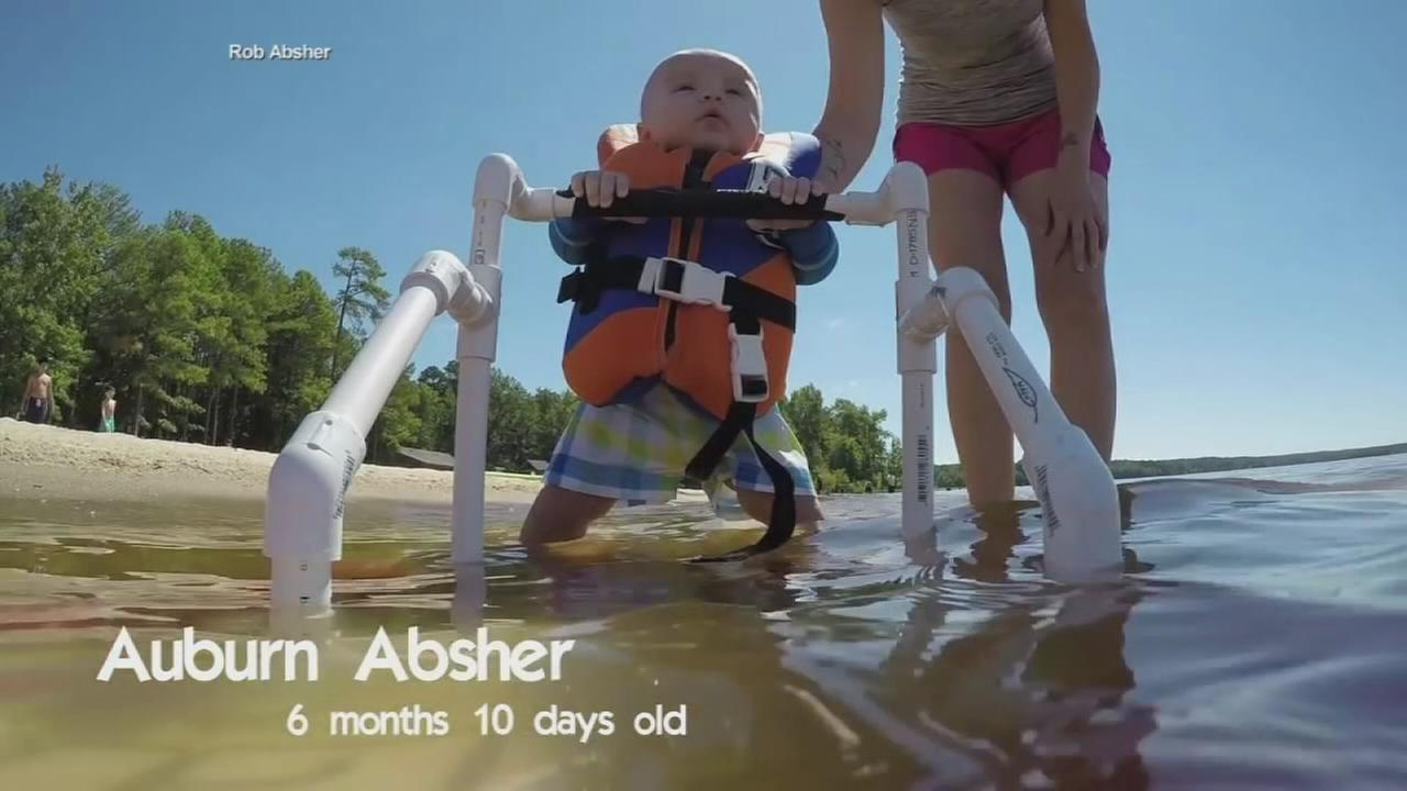 VIDEO: Baby water skier