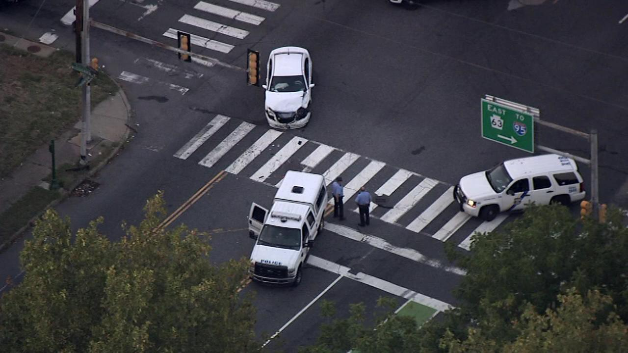 A police vehicle was involved in a crash in Northeast Philadelphia.