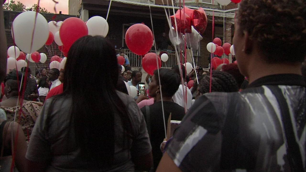 September 6, 2016: Friends and family gathered to celebrate the life of Amber Michael, killed in a double shooting on Sept. 5th in North Philadelphia.