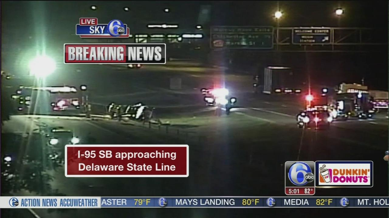 VIDEO: Crash on I-95 SB approaching Del. State Line