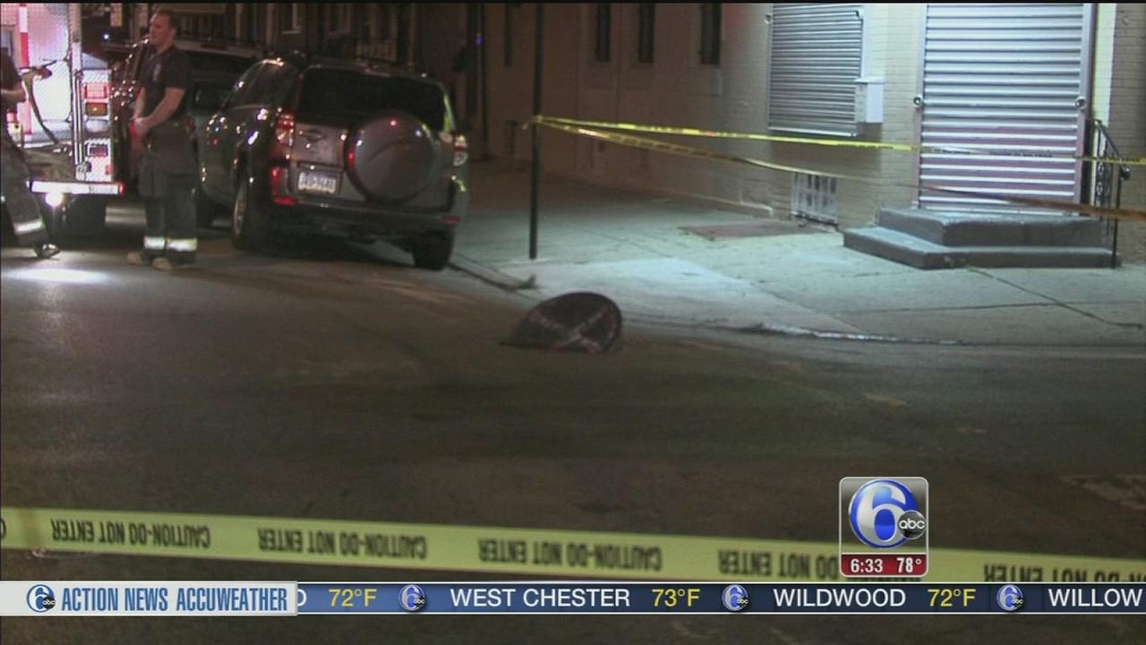 VIDEO: Underground explosion sends manhole cover flying in South Philly