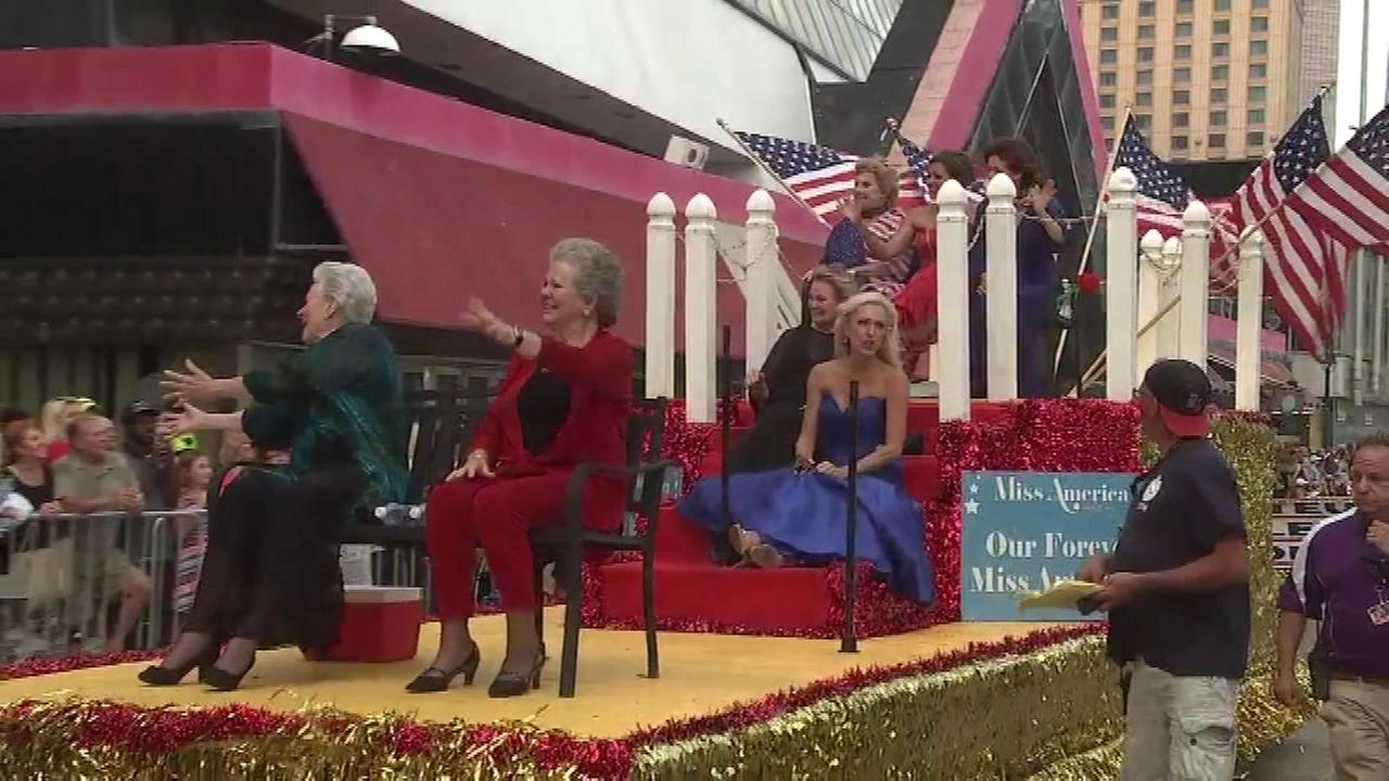 Contestants vying for the Miss America title displayed some fancy footwear along the Atlantic Citys boardwalk.