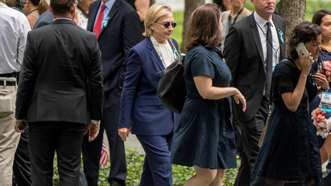 Drs say pneumonia caused Clinton to faint at 9/11 event
