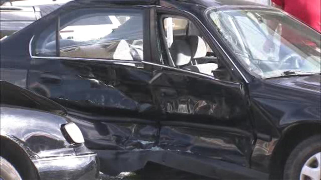 At least two people were injured in a multi-vehicle crash in Philadelphias Tacony section.