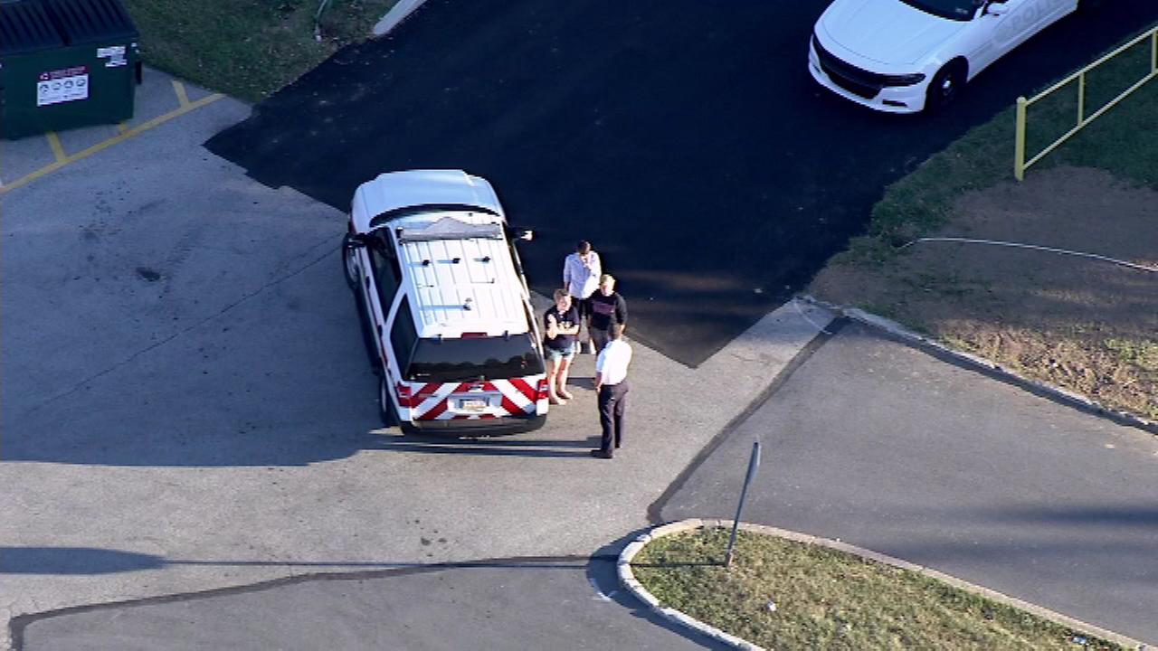 Chopper 6 was over the scene after police responded to the Valley Forge Military Academy on Monday, September 12.