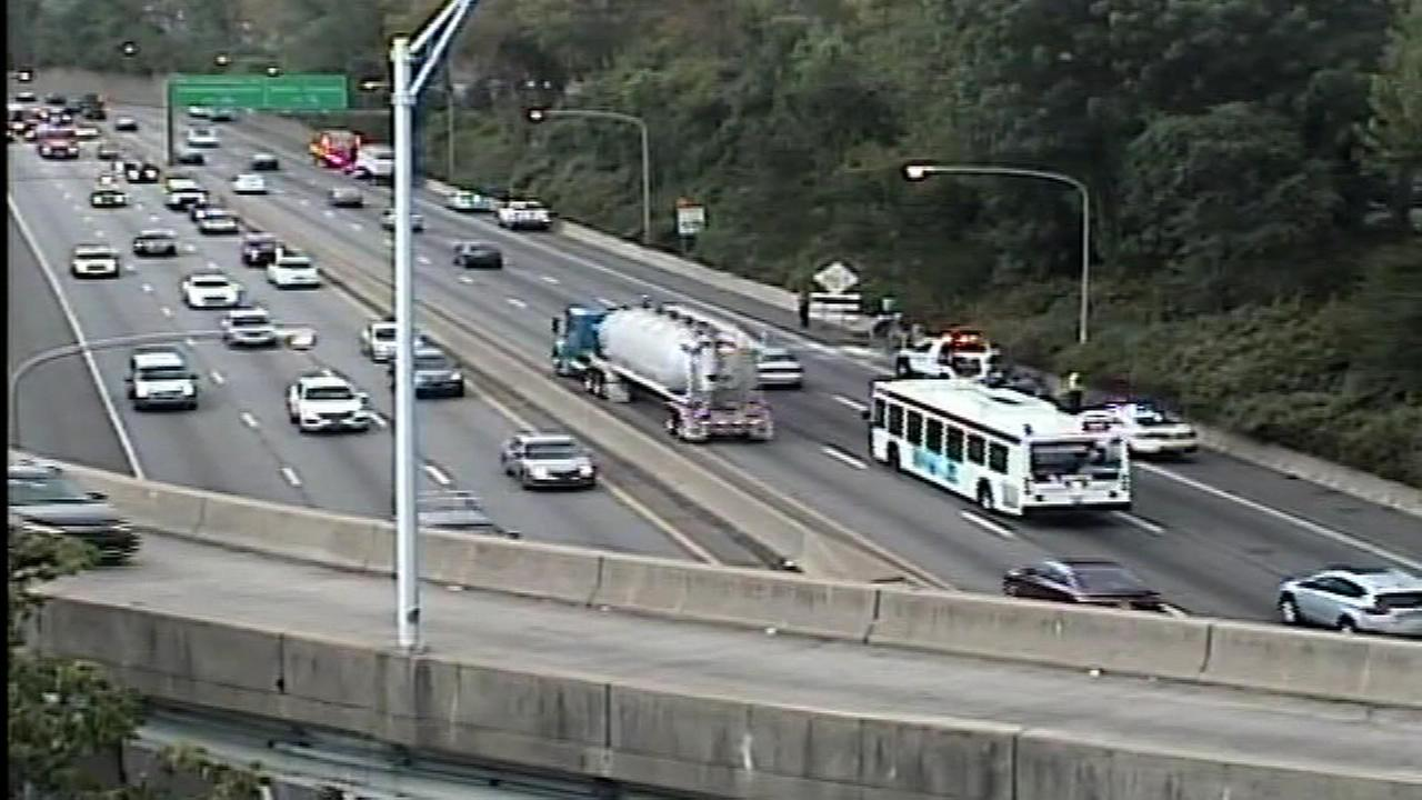 September 13, 2016: The crash, involving a dump truck, a tractor-trailer and a passenger vehicle, happened around 6 a.m. at the Girard Avenue exit.