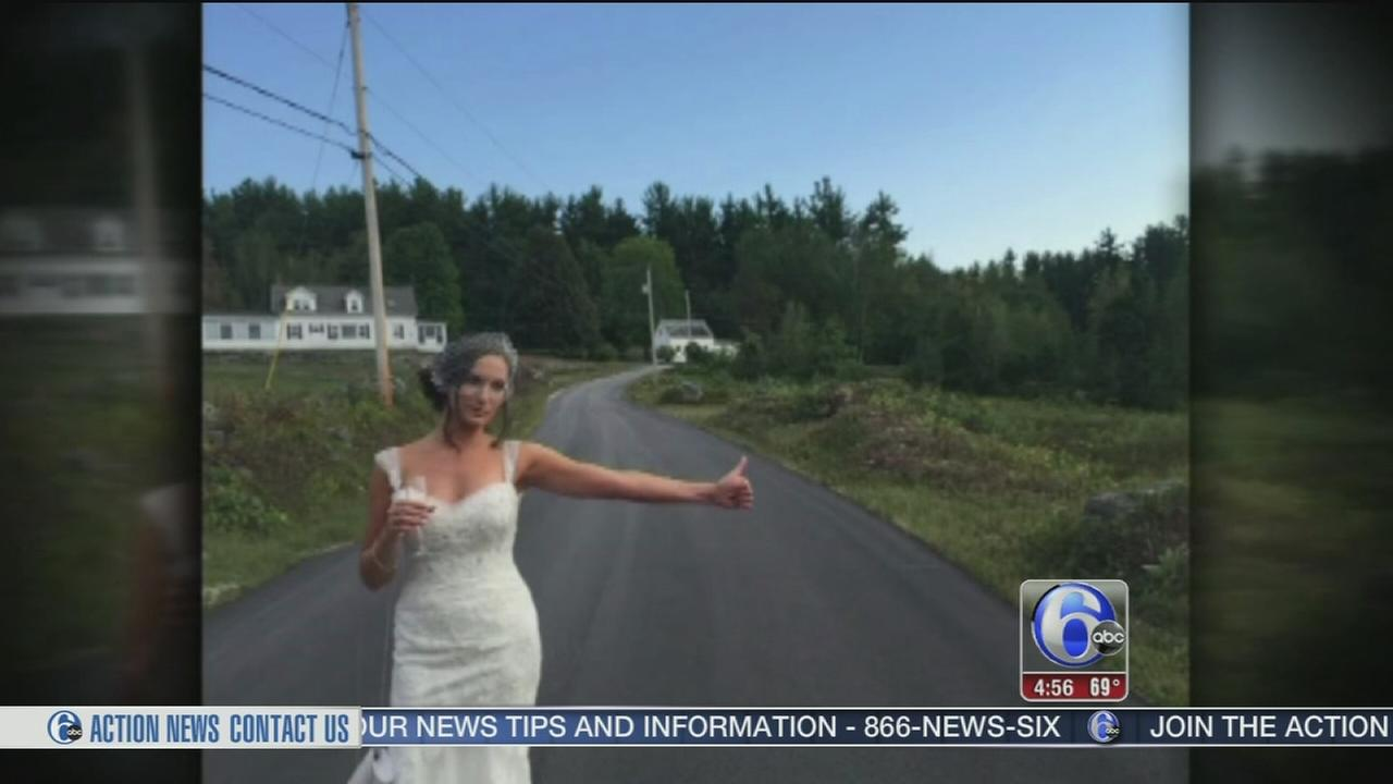 VIDEO: Bride hitchhikes to wedding in New Hampshire