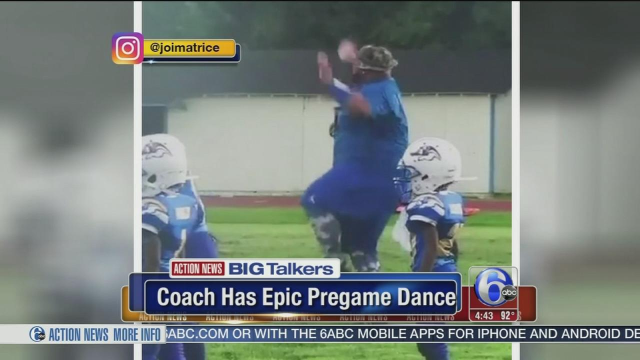 VIDEO: Pee Wee football coach has epic pregame dance