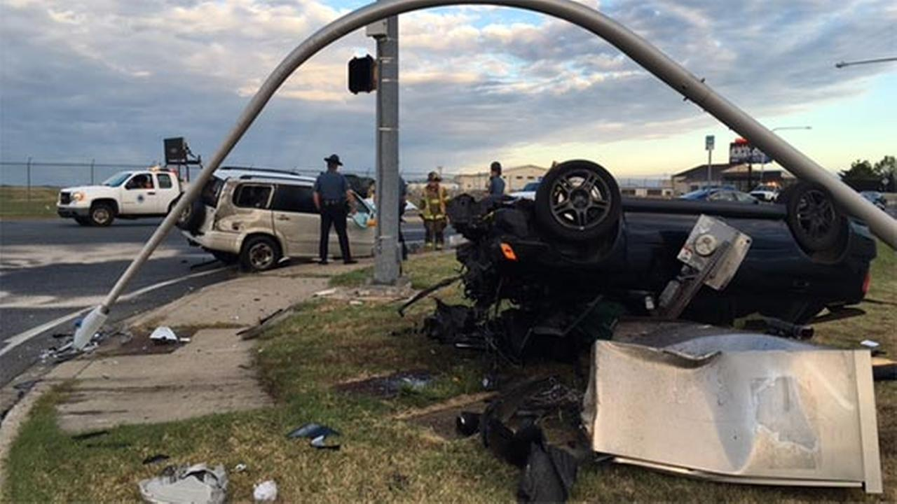 PICTURES: PICTURES: Scene of 2-vehicle collision in Wilmington Manor, Delaware that injured two teen drivers.